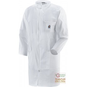 DISPOSABLE POLYPROPYLENE AND POLYTHENE PROTECTIVE COAT WITH ZIP