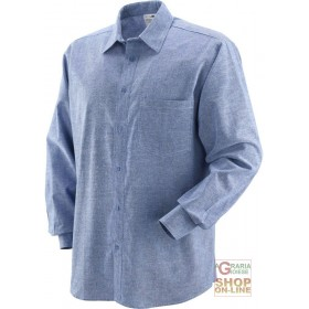 100% COTTON SHIRT CHAMBRAY FABRIC 130 GR MQ TG ML XL XXL