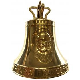 Campana in ottone commemorazione Papa Francesco dimensione mm.
