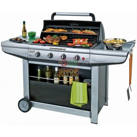 CAMPINGAZ GAS BARBECUE ADELAIDE 4P DLX 21KW WITH STOVE