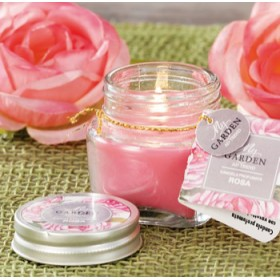 SCENTED CANDLE WITH GLASS JAR mm. 55x55h.