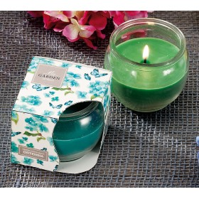 SCENTED CANDLE WITH GLASS JAR mm. 75x75h.