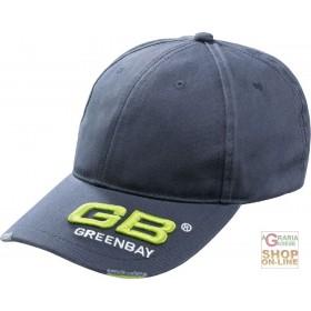 100% COTTON CAP WITH GB LOGO VISOR GRAY COLOR
