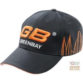 100% COTTON CAP WITH GB LOGO VISOR COLOR BLACK