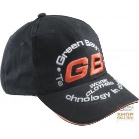 100% COTTON CAP WITH GB TINC LOGO VISOR COLOR BLACK