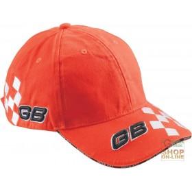 100% COTTON CAP WITH GB TINC RACE LOGO VISOR COLOR ORANGE
