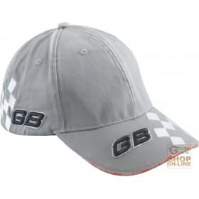100% COTTON CAP WITH GB TINC RACE LOGO VISOR, GRAY COLOR
