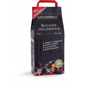 CHARCOAL FOR LOTUSGRILL IN PURE BEECH WITHOUT GLUES ORIGINAL