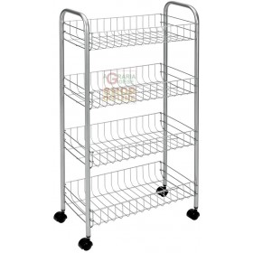 METALTEX ASCONA SHELF WITH 4 POLYTHERM SHELVES CM. 41X26X86