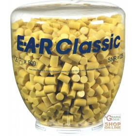 CHARGE OF 500 PAIRS EAR CLASSIC CAPS FOR ONE TOUCH DISPENSER, YELLOW COLOR