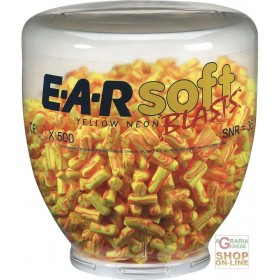 CHARGE OF 500 PAIRS EARSOFT YELLOW NEON BLAST CAPS FOR ONE