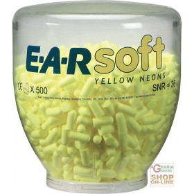 CHARGE OF 500 PAIRS EARSOFT YELLOW NEON CAPS FOR ONE TOUCH YELLOW DISPENSER