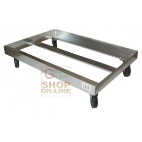 TROLLEY WITH FOUR WHEELS FOR UNDER MACHINE CM. 66 x 45