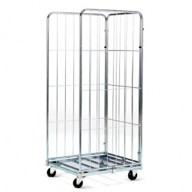 TROLLEY WITH 3 SIDES GALVANIZED ROLL CONTAINER CM. 80x71x180h NEW