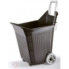 Multipurpose trolley for garden Bama Kart cocoa 76 lt. also ideal as a log holder cm. 59x50x72h