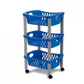 Otello trolley with three floors cm. 30x40x70h.