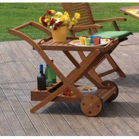 BEVERAGE TROLLEY YELLOW BALAU TEA 87X56X77H TT-623