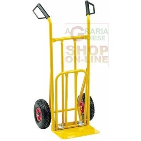 JUPITER CRATE TROLLEY WITH INFLATABLE WHEELS AND FOLDING BASE KG. 200