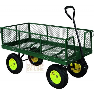 MULTIPURPOSE TROLLEY WITH SIDES AND HANDLEBAR FOUR WHEELS DEMETRA KG. 700