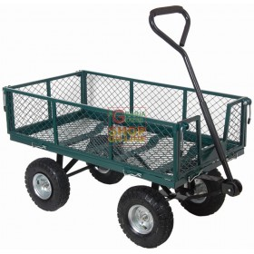 CART MULTIPURPOSE TROLLEY WITH SIDES AND FOUR WHEEL HANDLEBAR KG. 150