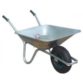 WHEELBARROW WITH GALVANIZED TANK WITH PNEUMATIC WHEEL LT. 70-75