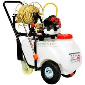 WHEELBARROW FOR WEEDING AND SPRAYING 4-STROKE ENGINE WITH MOTOR PUMP, LANCE TUBE AND TANK LT. 50