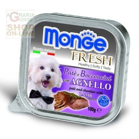 MONGE FRESH PATE AND CHUNKS FOR DOGS WITH LAMB GR. 100