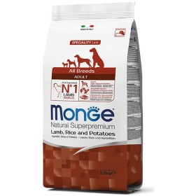 MONGE FEED FOR DOGS CROQUETTES ALL BREEDS ADULT WITH LAMB, RICE