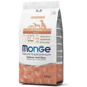 MONGE FEED FOR DOGS CROQUETTES ALL BREEDS ADULT WITH SALMON AND
