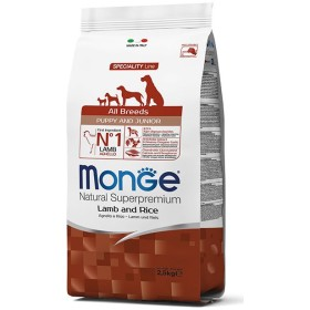 MONGE FEED FOR DOGS CROQUETTES ALL BREEDS PUPPY WITH LAMB AND