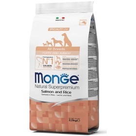 MONGE FEED FOR DOGS CROQUETTES ALL BREEDS PUPPY WITH SALMON AND