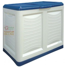 Mettutto Bama plastic container blue chlorine cm. 78x45x64h. lt. 200