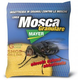 MOSCAMAYER GRANULAR INSECTICIDE AGAINST FLIES YELLOW MOSCHICIDE