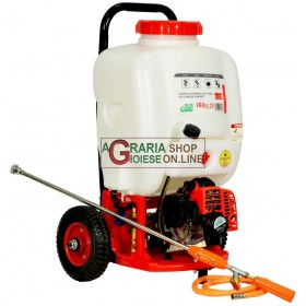 MOTOR PUMP FOR WHEELED SPRAYING TROLLEY WITH TANK AND WHEELS TWO-STROKE ENGINE IRRO 25 LT. 25