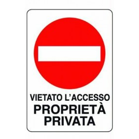 PRIVATE PROPERTY SIGN MM. 300X200
