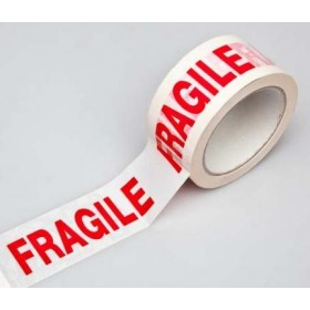 WHITE ADHESIVE TAPE WITH WRITTEN FRAGILE MT. 66