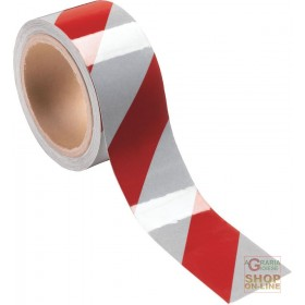 ADHESIVE RETRO REFLECTIVE TAPE DM 7209 DIAGONAL LOSANGHE PACK 10 MT COLOR WHITE RED