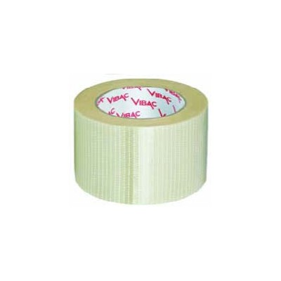 BIDIRECTIONAL TRANSPARENT REINFORCED PACKING TAPE MM. 50x50 MT.