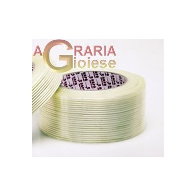 TRANSPARENT MONODIRECTIONAL REINFORCED PACKING TAPE MM. 50x50