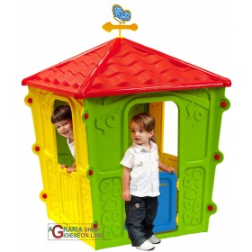 HOUSE FOR CHILDREN IN COLORED THERMOPLASTIC RESIN CM.