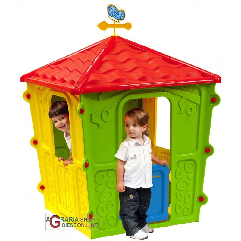 Casetta in plastica colorata per bambini cm 108x108x152h for Casetta in plastica per bambini usata