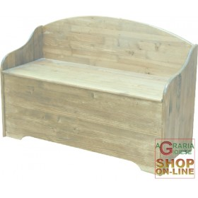WOODEN CHEST WITH SPRUCE BACK 100x40x70