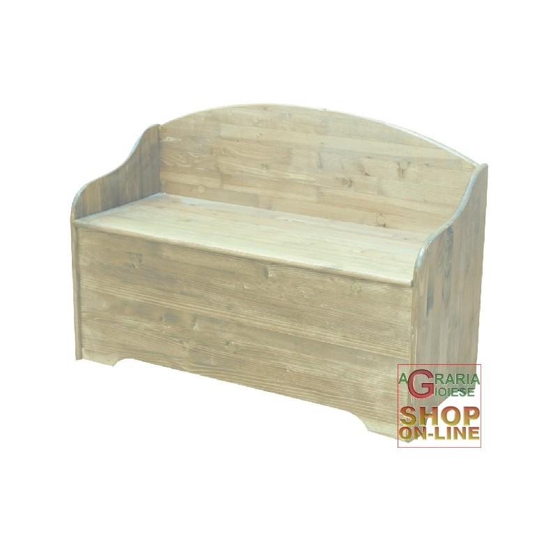 Cassapanca in legno con spalliera in abete 100x40x70 for Cassapanca per legna ikea