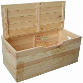 IBISCO WOODEN CHEST WITH LID CM. 75X35X33H