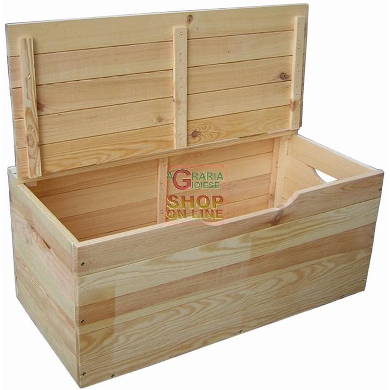 Cassapanca in legno ibisco con coperchio cm 75x35x33h for Cassette di legno ikea
