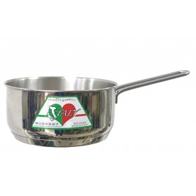 CASSEROLE WITH HANDLE IN STAINLESS STEEL 18/10 MONTINI ITALY WITHOUT LID INDUCTION BOTTOM CM. 16x8h.