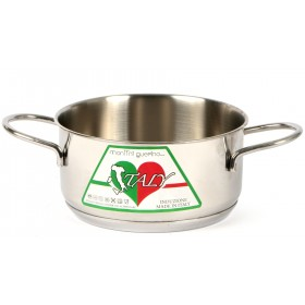 CASSEROLE IN STAINLESS STEEL 18/10 MONTINI ITALY WITHOUT LID INDUCTION BOTTOM CM. 24x12h.