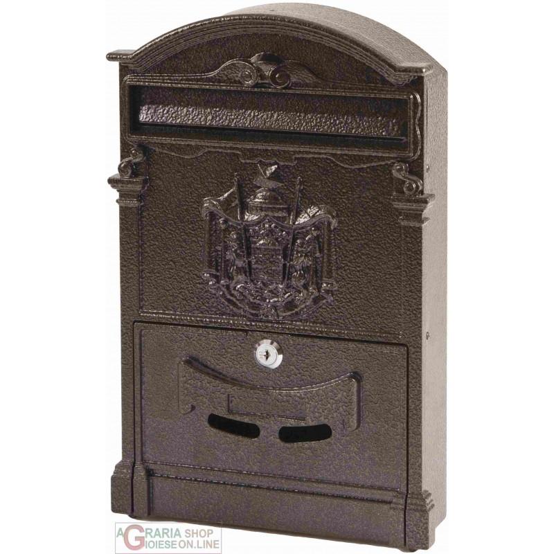 Cassetta postale della posta in alluminio color bronzo da esterni 204x70x290mm