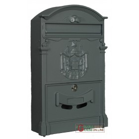 ALUMINUM MAIL BOX MOD. DIRECTION SILVER COLOR