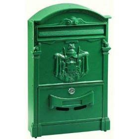 ALUMINUM MAIL BOX MOD. GREEN COLOR DIRECTION